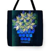 Blue Flower Pot Tote Bag
