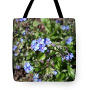 Blue Forget Me Not Tote Bag