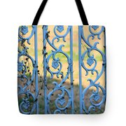 Blue Gate Swirls Tote Bag