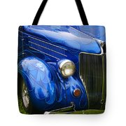 Blue Ghost Flames Tote Bag