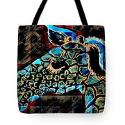 Blue Giraffe Tote Bag