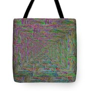 Blue Green Abstract Tote Bag