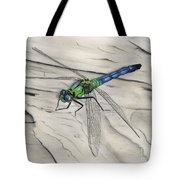 Blue-green Dragonfly Tote Bag