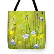 Blue Harebells Wildflowers Tote Bag