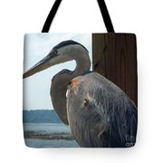 Blue Heron 2 Tote Bag