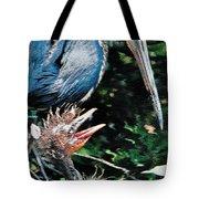 Blue Heron Family Tote Bag