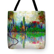 Blue Heron In My Mexican Garden Tote Bag