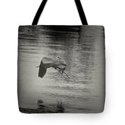 Blue Heron In Platinum Tote Bag