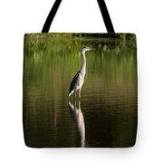 Blue Heron Reflection Tote Bag