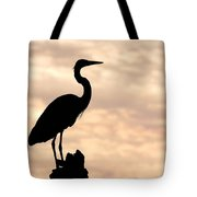 Blue Heron Silhouette Tote Bag