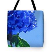 Blue Hortensia Hydrangea Tote Bag