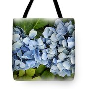 Blue Hydrangeas With Watercolor Effect Tote Bag
