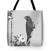 Blue In Black And White Tote Bag