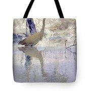 Blue Inverted Tote Bag