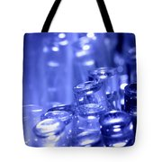 Blue Led Lights Pointing Upwards Tote Bag