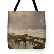 Blue Lights - Teignemouth Pier Tote Bag
