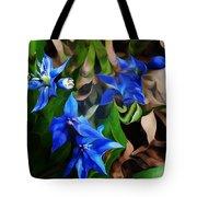 Blue Manipulation Tote Bag by David Lane