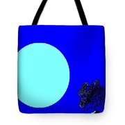 Blue Moon And Tree Tote Bag