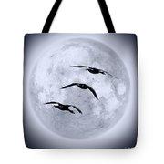 Blue Moon Geese Tote Bag