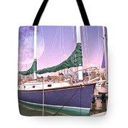 Blue Moon Harbor II Tote Bag by Betsy Knapp