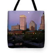 Blue Moon Over Downtown Providence 2 Tote Bag
