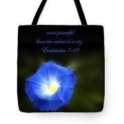Blue Morning Glory Tote Bag