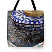 Blue Mosaic Fountain II Tote Bag