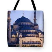 Blue Mosque Exterior Tote Bag