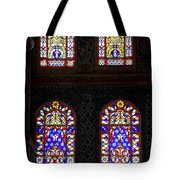 Blue Mosque Stained Glass Windows Tote Bag