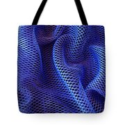 Blue Net Background Tote Bag