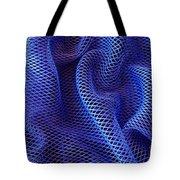 Blue Net Background Tote Bag by Carlos Caetano