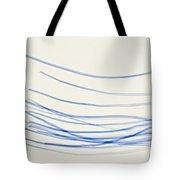 Blue Nylon Fibers Tote Bag