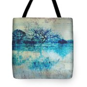 Blue On Blue Tote Bag by Ann Powell