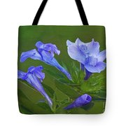 Blue On Green Tote Bag