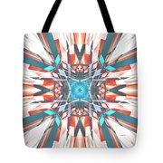 Blue Orange Kaleidoscope Tote Bag
