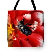 Blue Orchard Bee Tote Bag