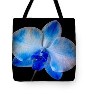 Blue Orchid Bloom Tote Bag