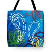 Blue Paisley Garden Tote Bag