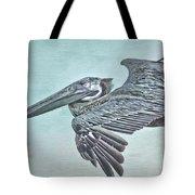 Blue Pelican Tote Bag