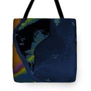 Blue Petal Tote Bag