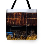Blue Pickup Truck Tote Bag