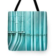 Blue Pipes Tote Bag by Tom Gowanlock
