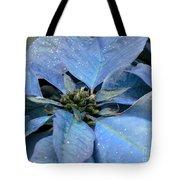 Blue Poinsettia Tote Bag