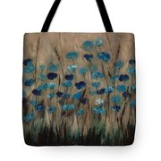 Blue Poppies And Gold Wheat Tote Bag