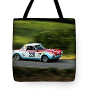 Blue Red And White Fiat Abarth Tote Bag