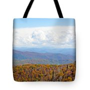Blue Ridge Mountains In Fall Tote Bag