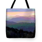 Blue Ridge Sunset Tote Bag