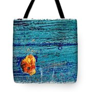 Blue Rusted Steel Painted Background Tote Bag