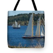 Blue Schooner 03 Tote Bag
