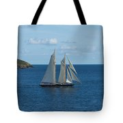 Blue Schooner 04 Tote Bag